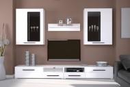 мебельная стенка в гостиную белый блеск Аргус