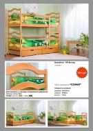Кровать двухъярусная деревянная София (Венгер)