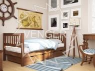 Кровать одноярусная деревянная Максим (Венгер)