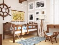 Кровать одноярусная деревянная Максим с бортиками (Венгер)