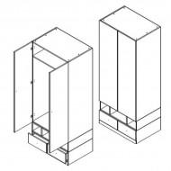 Шкаф SZF2D2S системы Моби (мебель Гербор)